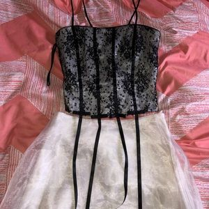 TWO PIECE HOMECOMING / PROM CORSET DRESS